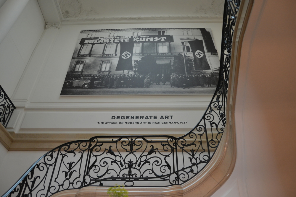 Entrance into the Neue Galerie's Degenerate Art exhibit
