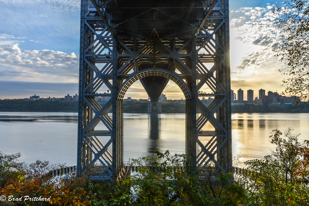 The first of many pictures from beneath the GW Bridge.