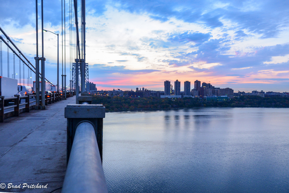 One of my first shots of the morning.   The view from the south side of the bridge, looking east to Upper Manhattan.
