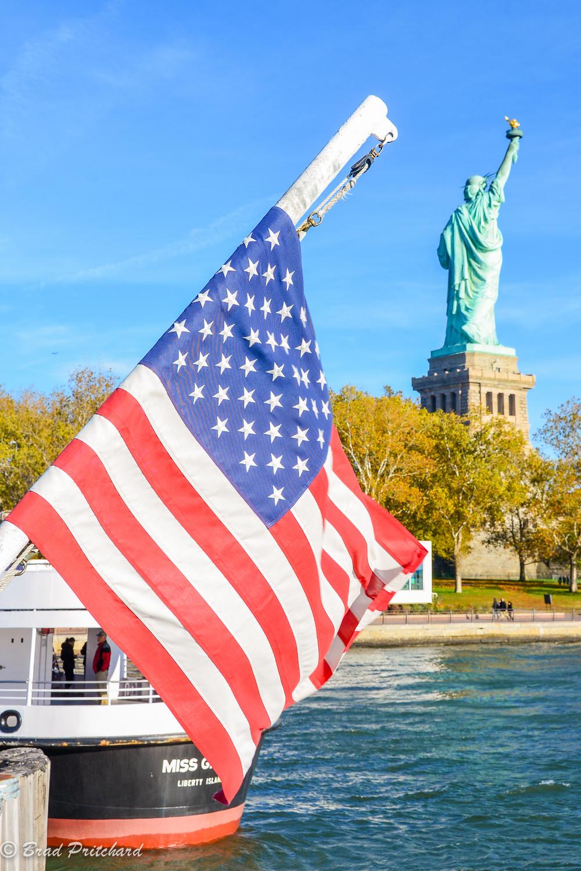 Departing Liberty Island.