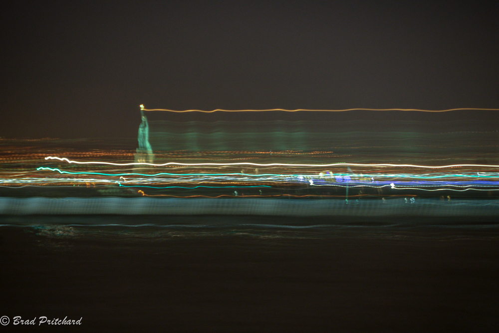 Statue of Liberty Running, NYC, November 2014