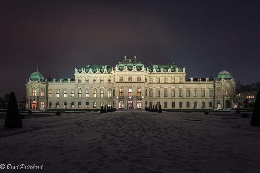 Belvedere Palace, Vienna, Austria, January 2015
