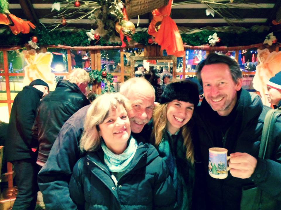 Keeping warm with some Glühwein at the Berlin  Weihnacht  Market