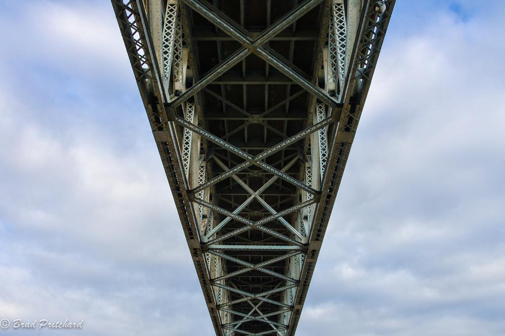 Ross Island Bridge, Portland, Oregon, August 2013