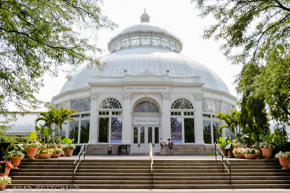 Main entrance to the Enid A. Hupt Conservatory.