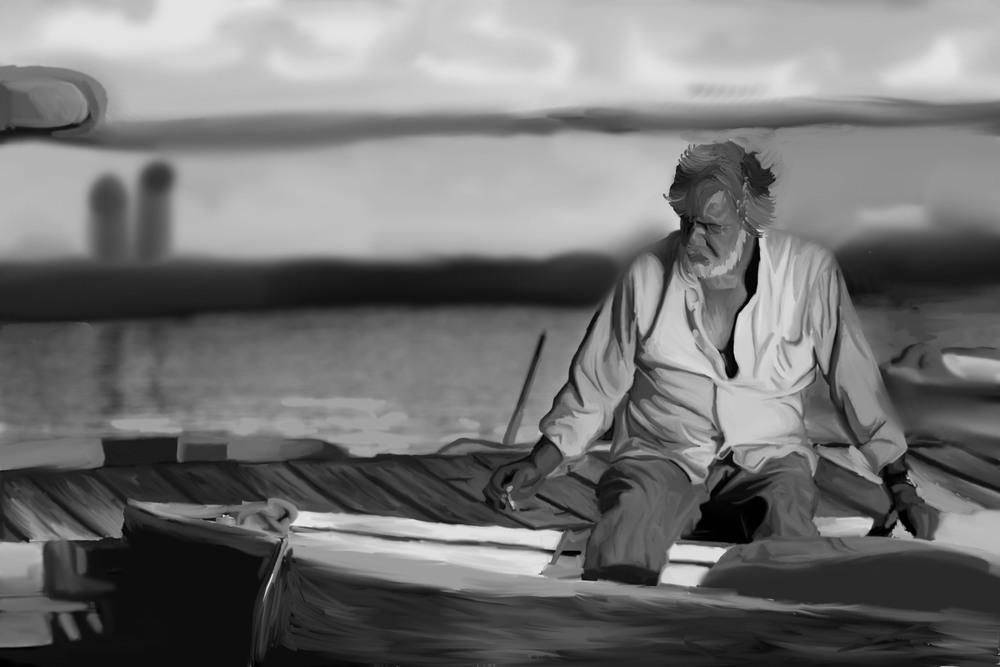 Miami Fisherman Scene