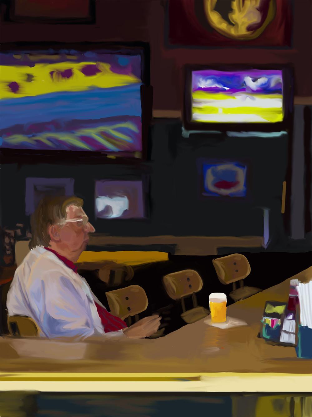 Alone at a Bar