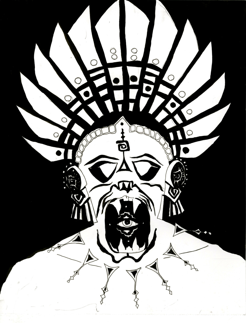 Mayan Civilization Mask