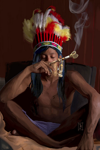 This was for a figure painting class in which i was assigned to do a still figure.Also done in Adobe Photoshop.