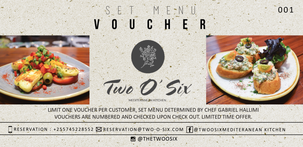 A New Set Menu voucher introducing a new arrangement by executive chef Gabriel Hallimi. For email use.