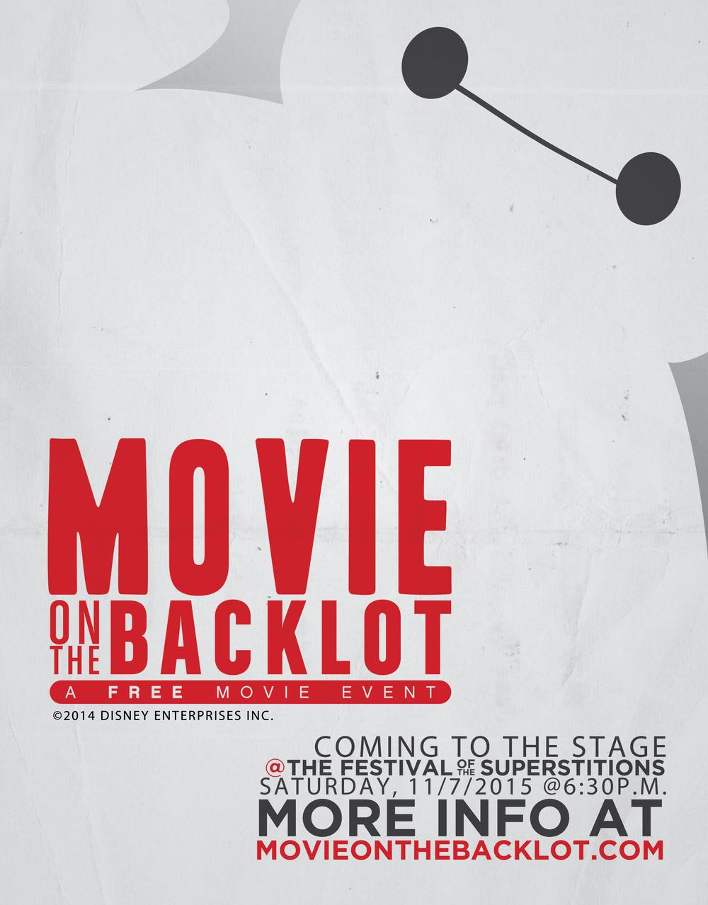 Movie On The Backlot 2015 Big Hero 6