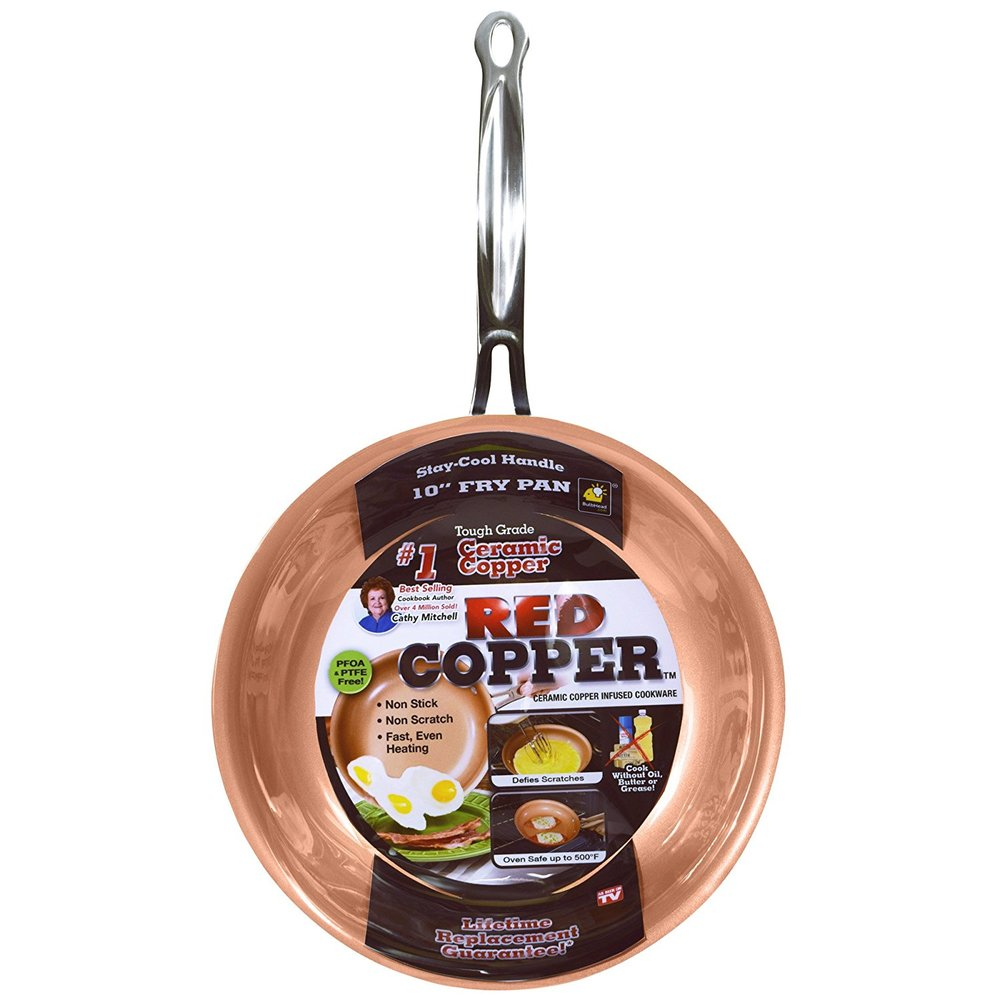 RED COPPER PAN 10-INCH
