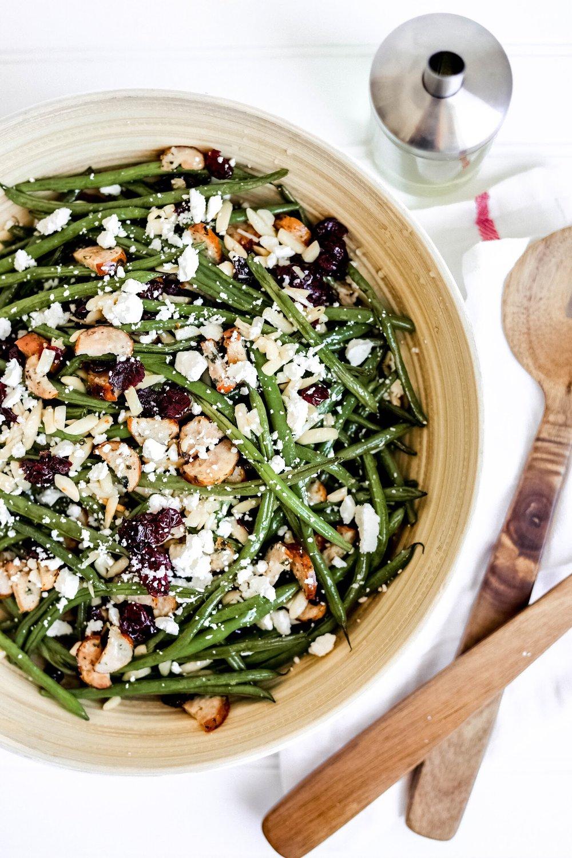 Holiday Green Beans - Makes 16 servings85 calories per serving4F / 8C / 4P / per serving