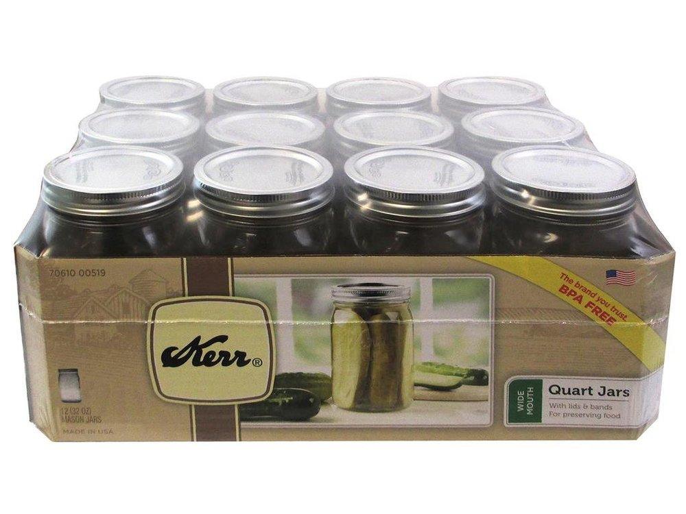 32 oz Wide Mouth Glass Salad Jars