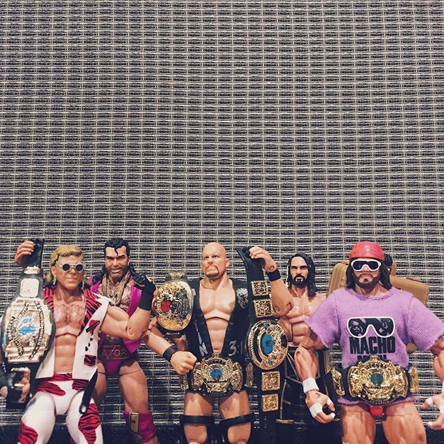 Here's my top 5 all time favorite wrestling figures for the @fullyposeablewfp podcast. 1. Stone Cold Steve Austin (Defining Moments) 2. Macho Man Randy Savage (Legends) 3. Shawn Michaels (Ringside Exclusive) 4. Seth Rollins (TRU Seth Cashes In) 5. Razor Ramon (Defining Moments) . Runner Ups: Bret Hitman Hart (Ringside Exclusive); Sting (Great American Bash Defining Moments); Roman Reigns (Network Spotlight). . . . #designer #graphicdesigner #actionfigures #toys #toycollector #wrestling #prowrestling #wwe #wwf #mattel #stonecoldsteveaustin #machoman #shawnmichaels #sethrollins #razorramon #stonecold #machoman #hbk #thearchitect #kingslayer #scotthall #fullyposeable #mattelelite #wrestlingfigures #figlife #topfive #toyhunter #toycollection #80skid #90skid
