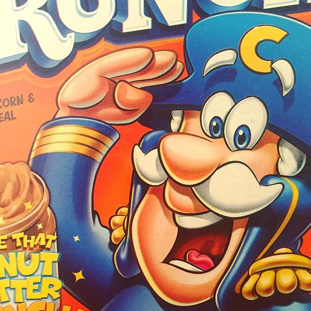 Still the best. . . . #capncrunch #cereal #90skid #80skid #designer #nostalgia #retro