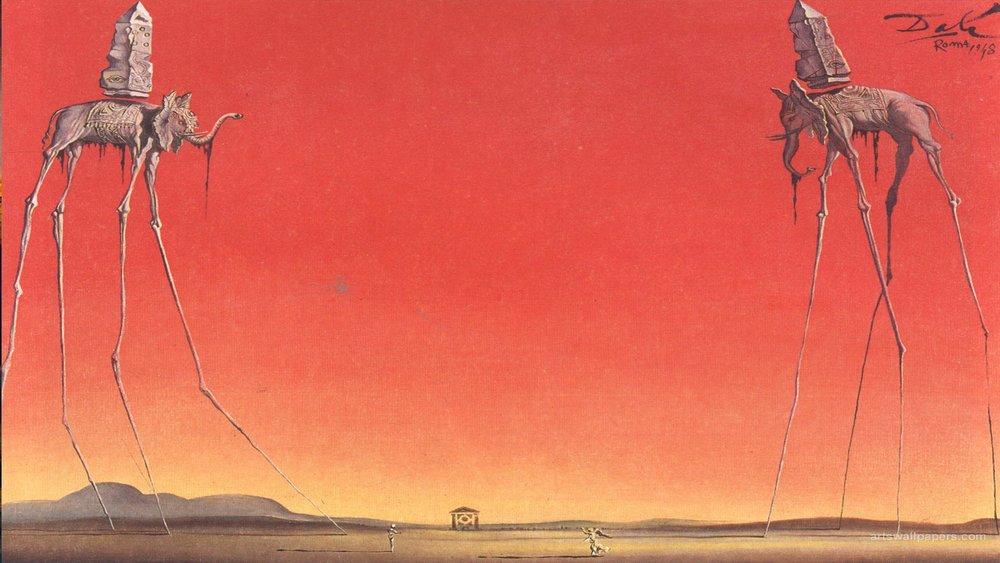Salvador Dalí,  The Elephants  (1948)