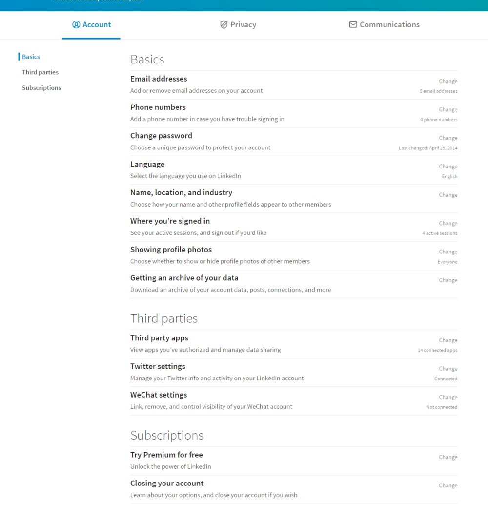 CHANGES TO PRIVACY AND SETTINGS 1