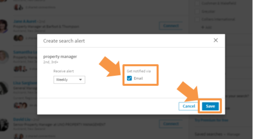 LINKEDIN TIPS: MANAGING SEARCH ALERT 5
