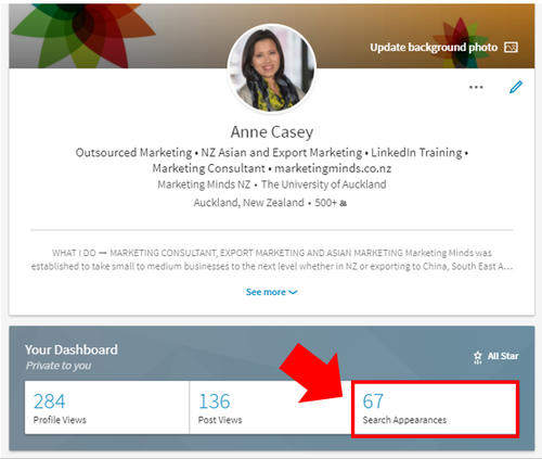 LINKEDIN TIPS: SEARCH APPEARANCE 2