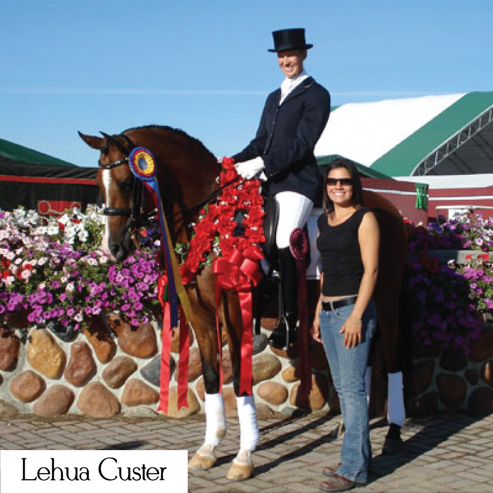 Lehua is a dressage rider and trainer based in California who loves Style Stock and the made in the USA dressage ties and stock ties.