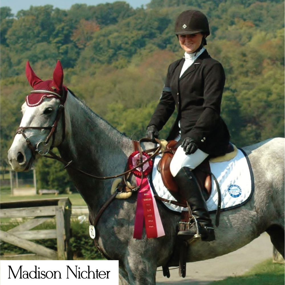 Madison Nichter is an event rider representing Style Stock custom dressage ties and stock ties.