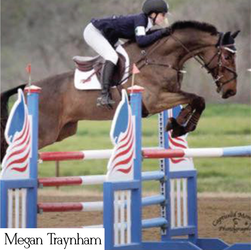 Megan is an eventer who loves to show her style with her custom stock ties from Style Stock.