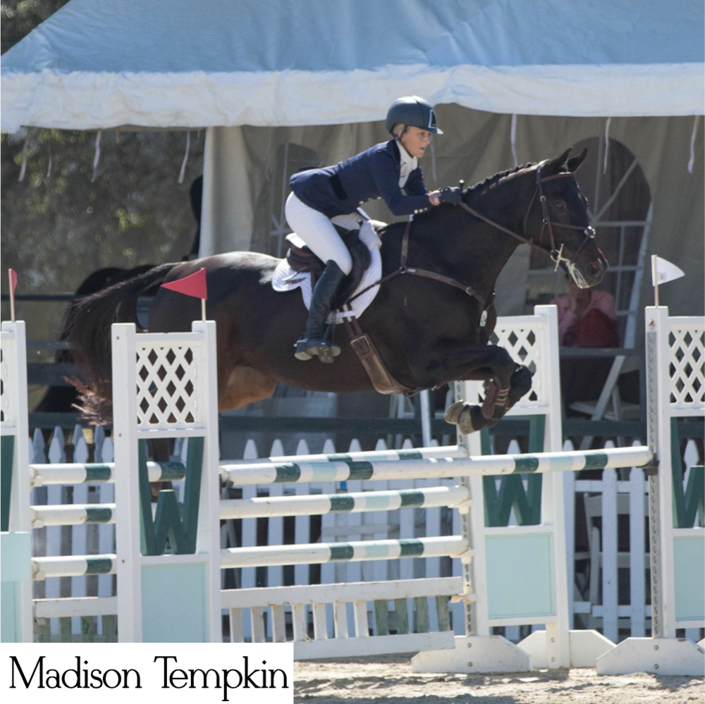Madison Tempkin is a young rider who hopes to compete at NAJYRC. She loves to stand out with her apparel and accessories, and loves her custom dressage ties and stock ties from Style Stock.