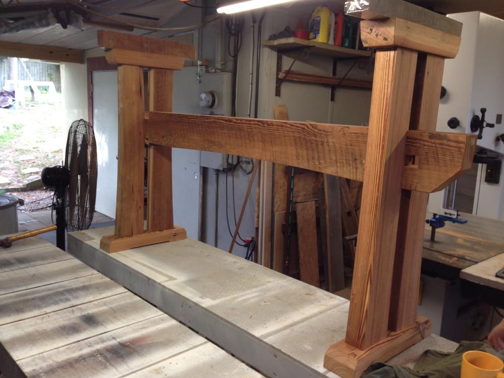 Trestle Table Under Construction
