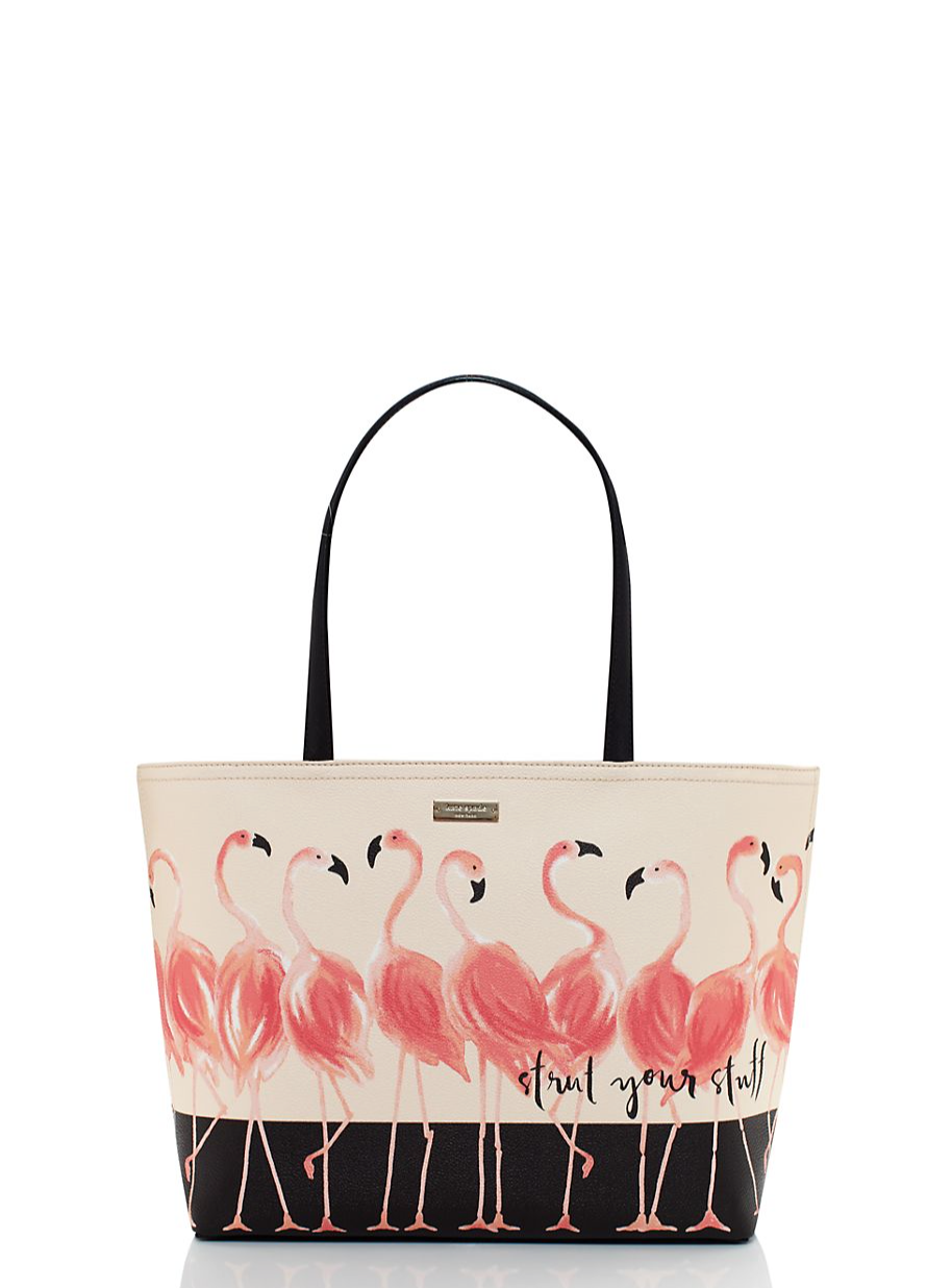 Kate Spade Strut Your Stuff Flamingo Francis Tote