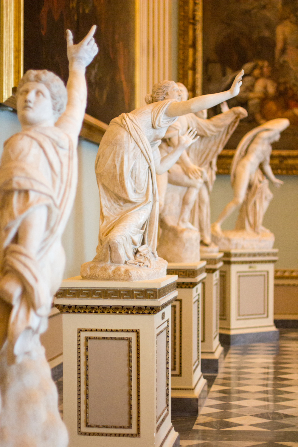 The thousands of years of history in museums like the Uffizi