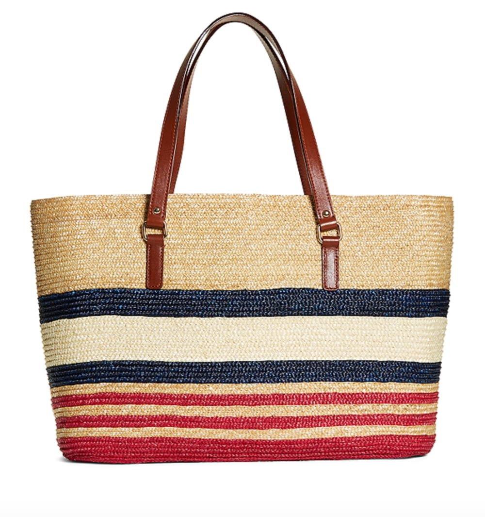 Brooks Brother's Straw Tote