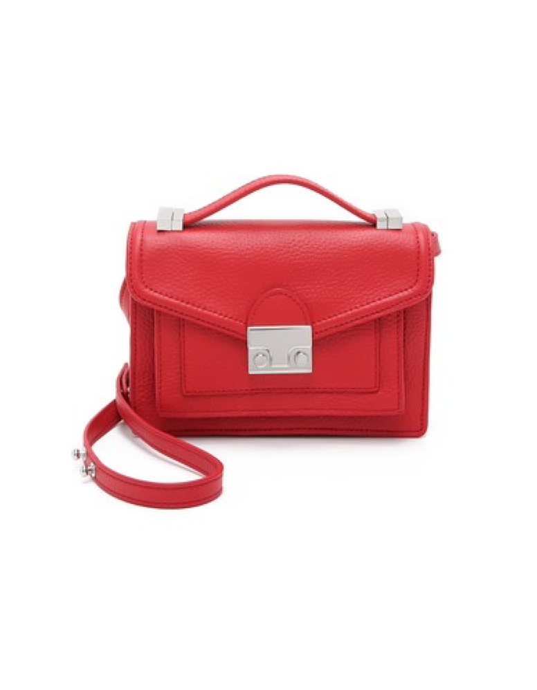 Red Loeffler Randall Mini Rider Cross Body Bag