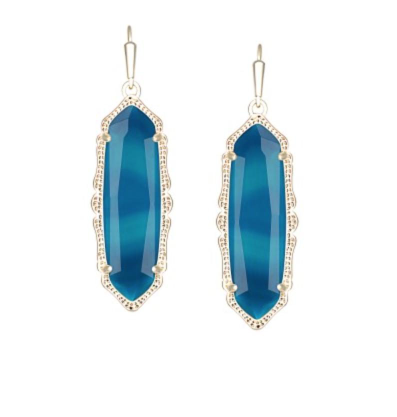 Kendra Scott Fran Earrings in Teal Agate