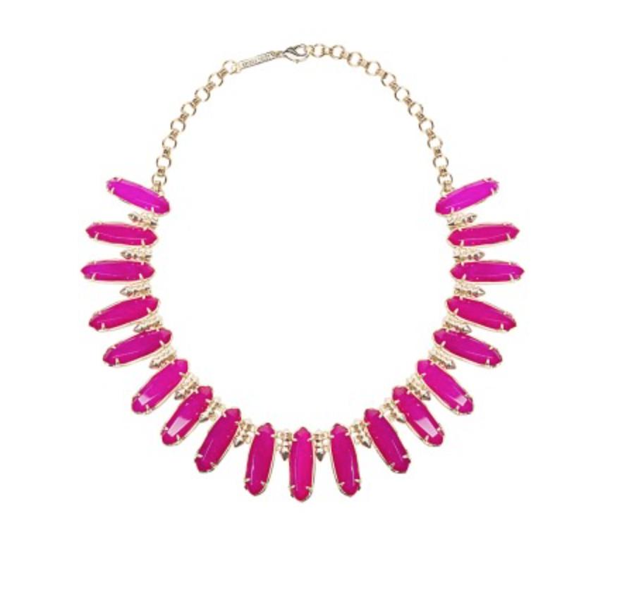 Kendra Scott Gabriella Statement Necklace in Pink Agate