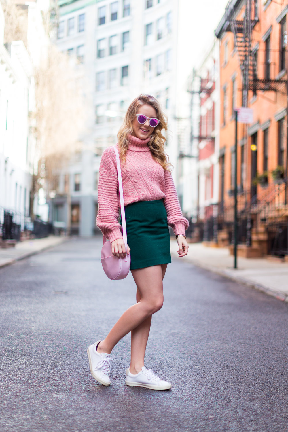 West Village Pink and Green Spring Outfit-3.jpg