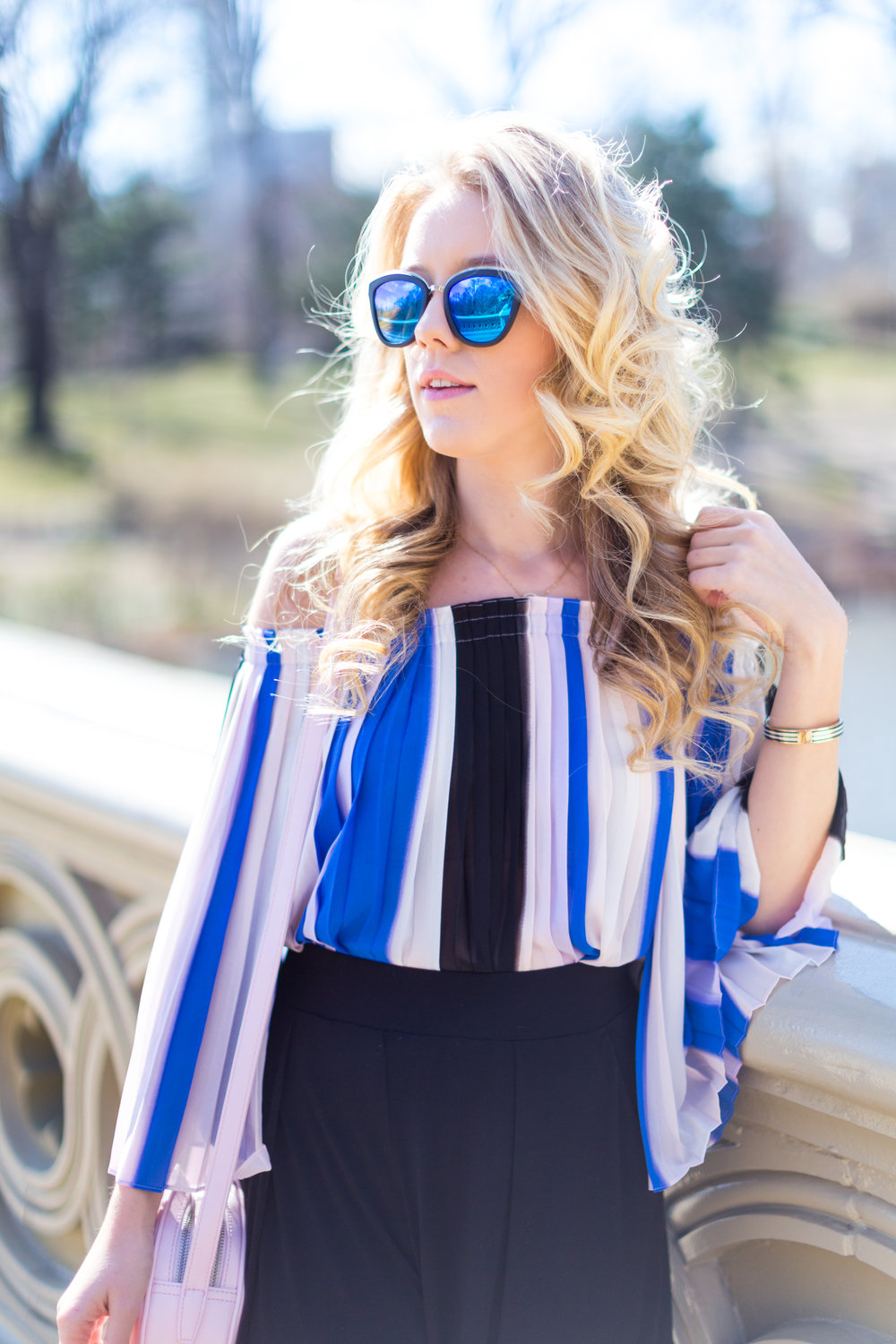 NYC Central Park Blue Off Shoulder Wide Leg Outfit-2.jpg