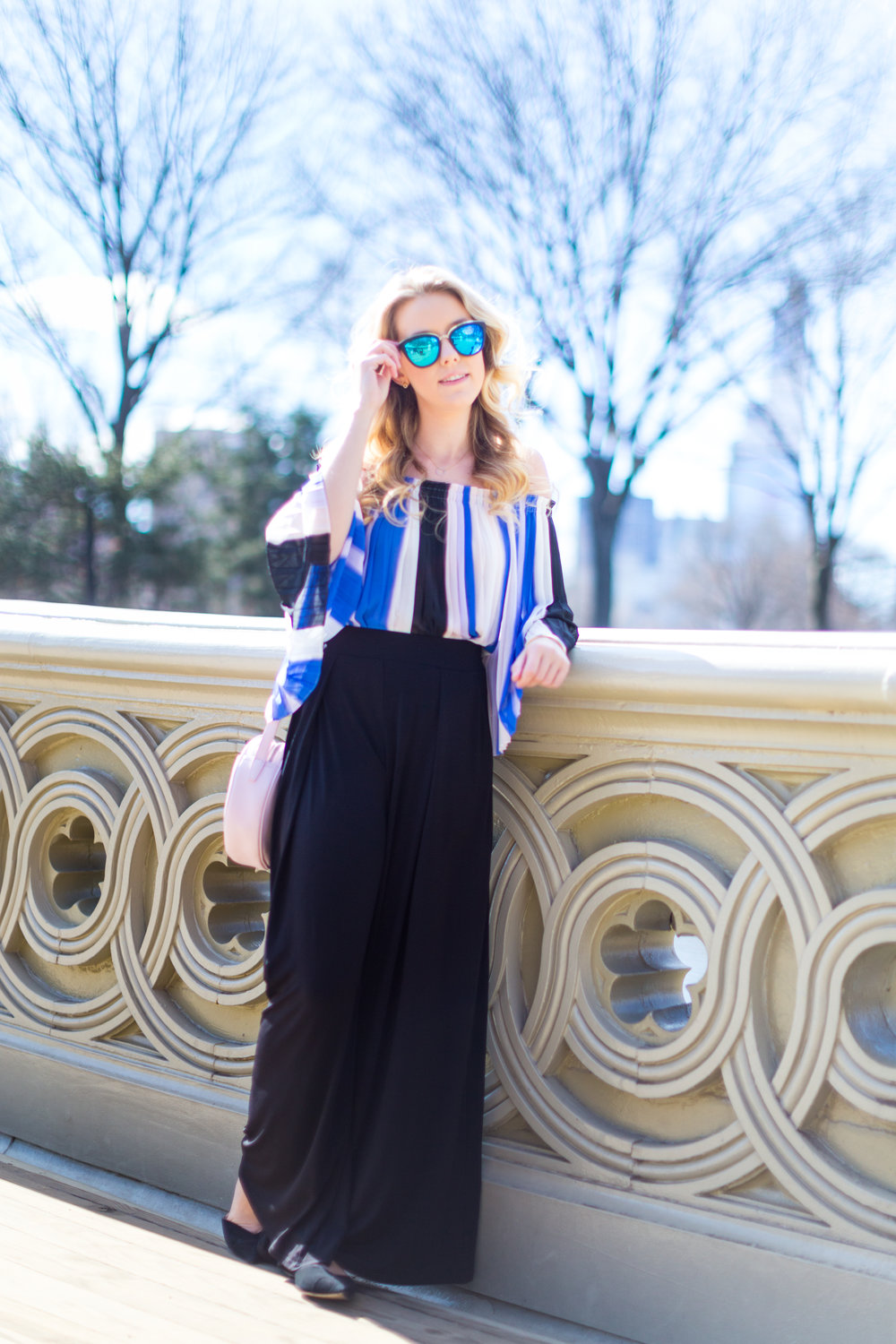 NYC Central Park Blue Off Shoulder Wide Leg Outfit-5.jpg