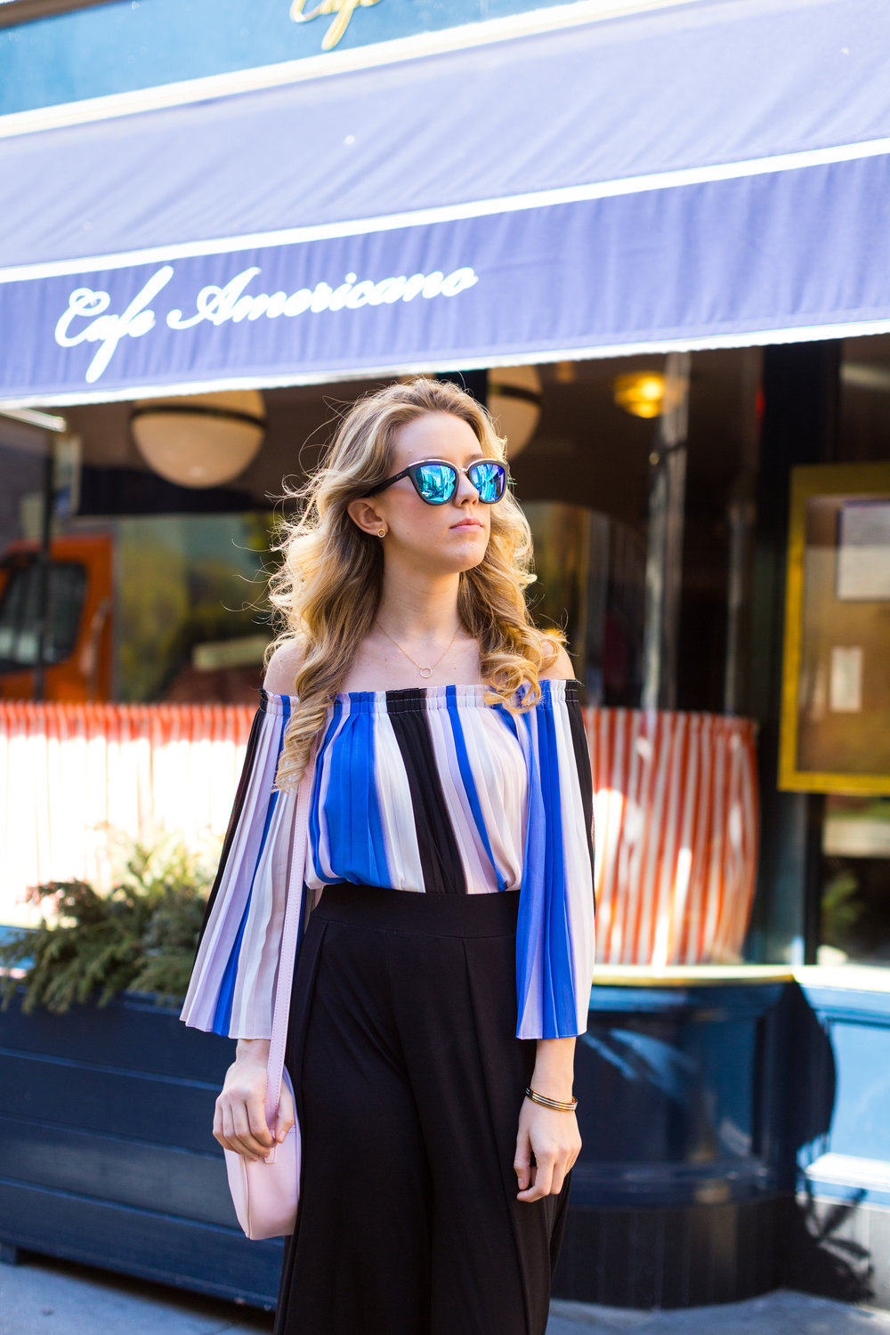 NYC Central Park Blue Off Shoulder Wide Leg Outfit-7.jpg