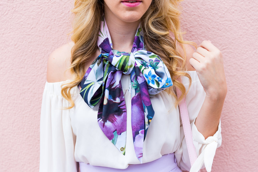 Charleston Purple Ruffle Floral Scarf Spring Outfit.jpg