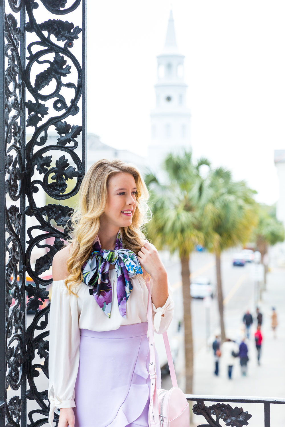 Charleston Purple Ruffle Floral Scarf Spring Outfit-8.jpg