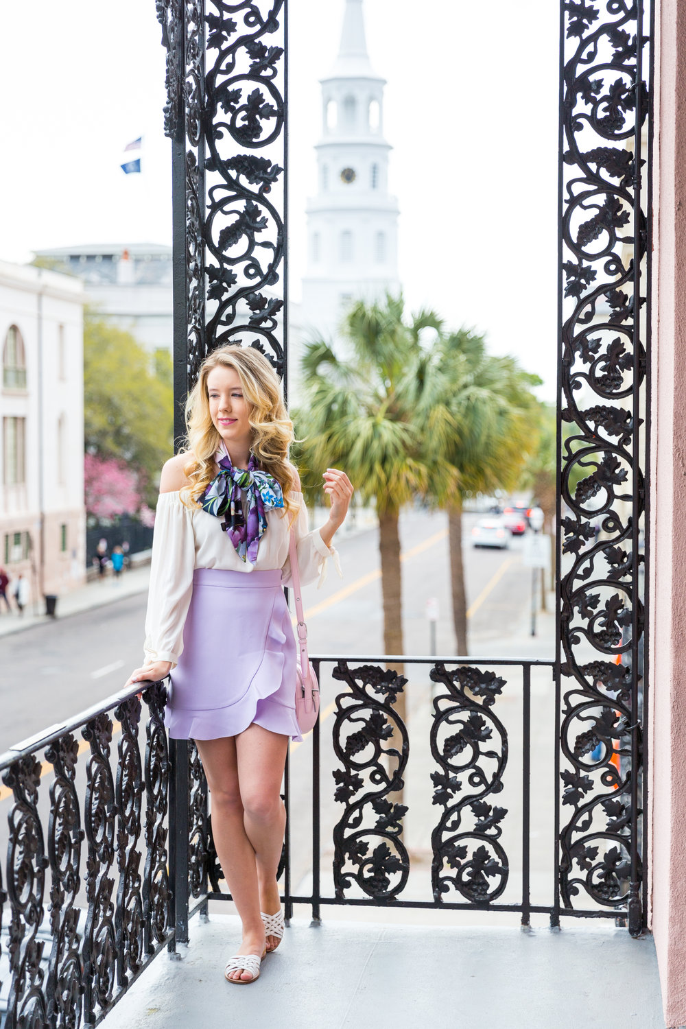 Charleston Purple Ruffle Floral Scarf Spring Outfit-10.jpg