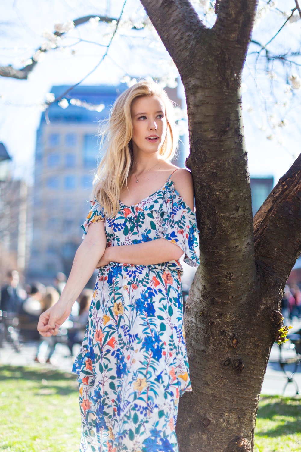 Ruffle Spring Floral Dress Washington Square Park NYC-7.jpg
