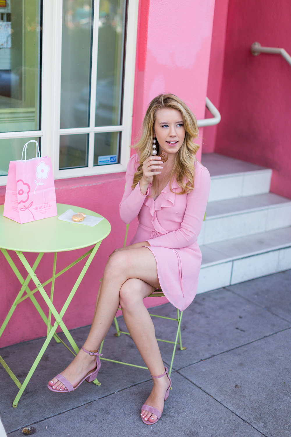 Pink Ruffle Wrap Dress Spring in San Francisco-7.jpg