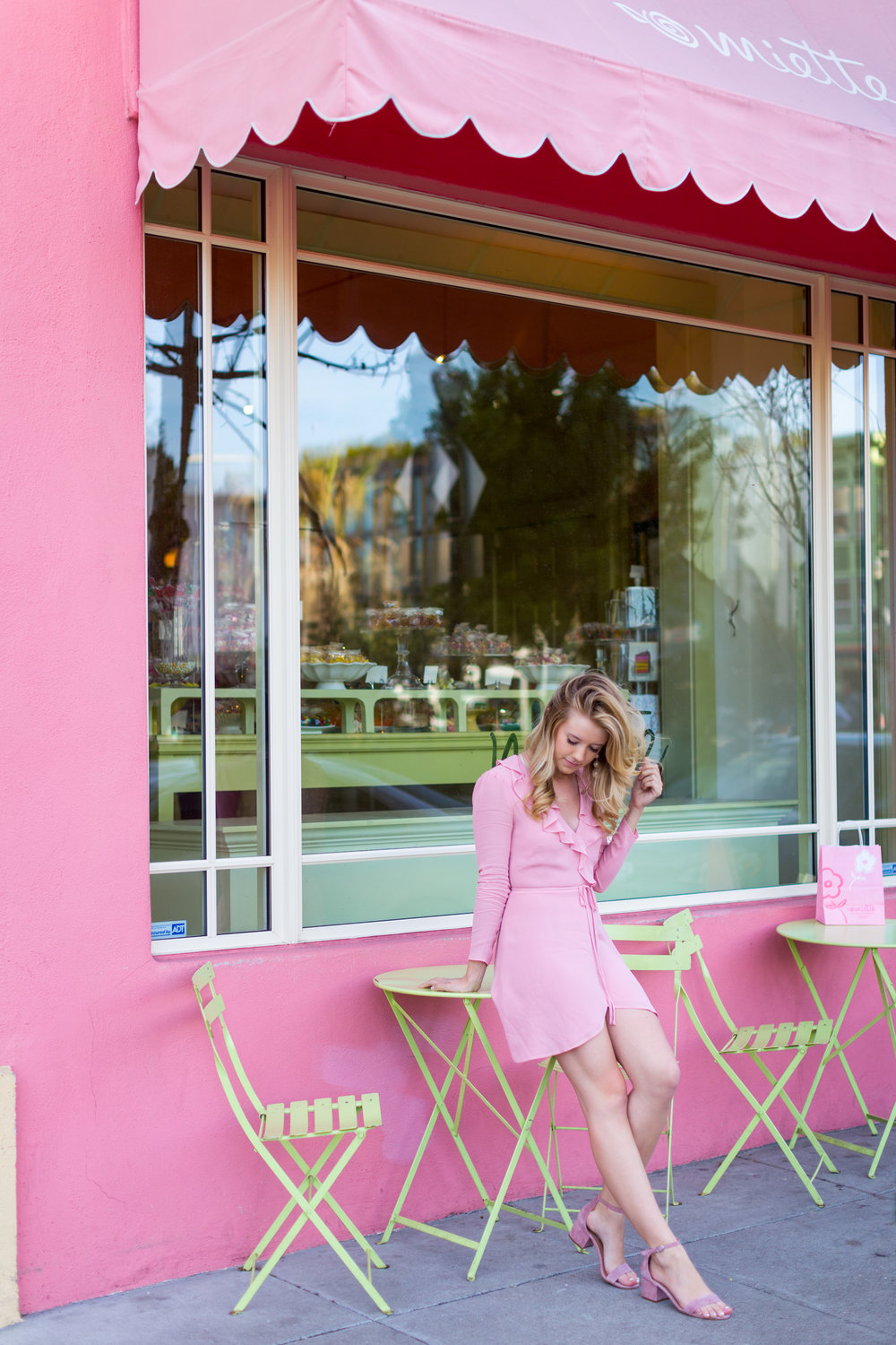 Pink Ruffle Wrap Dress Spring in San Francisco-12.jpg