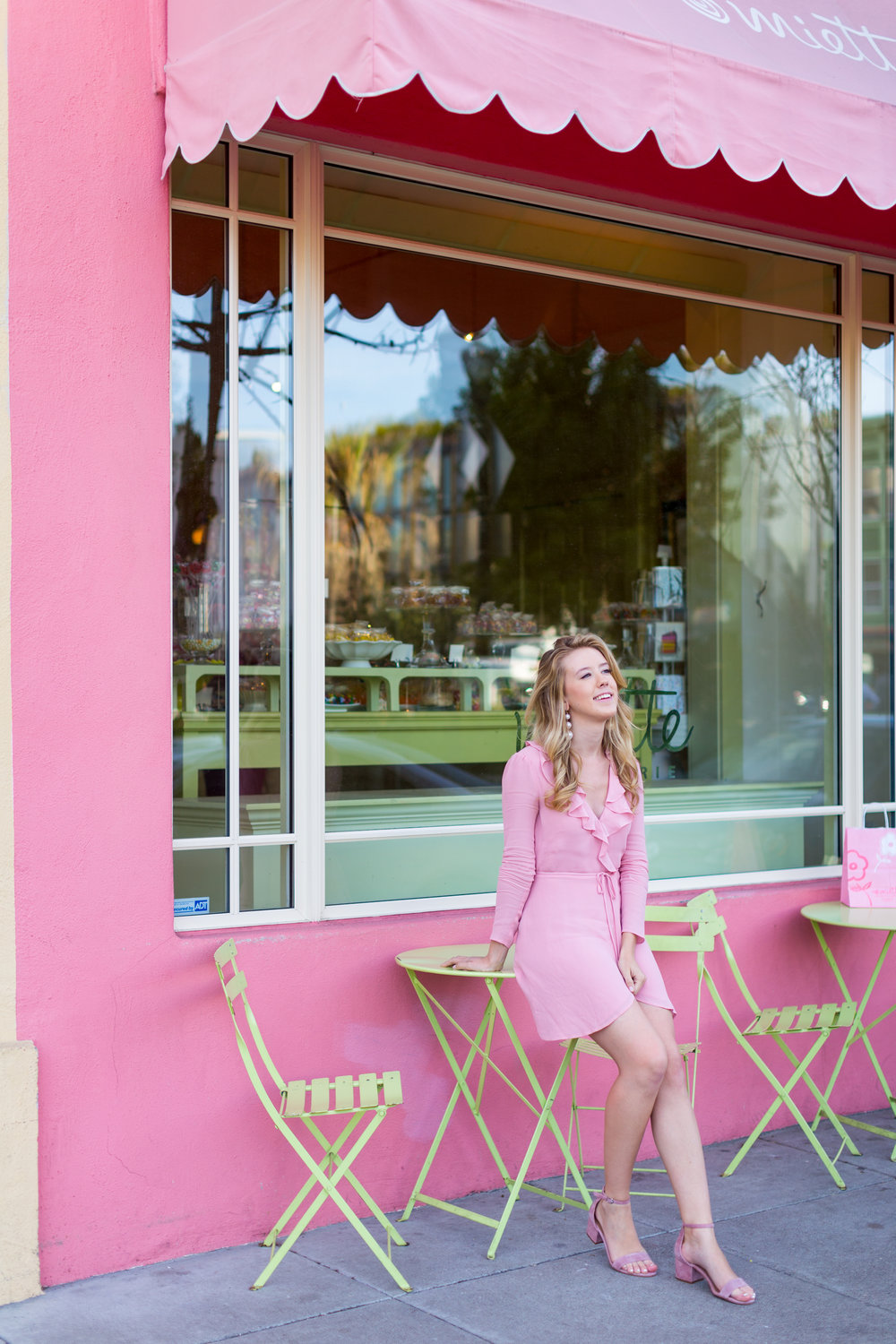 Pink Ruffle Wrap Dress Spring in San Francisco-13.jpg
