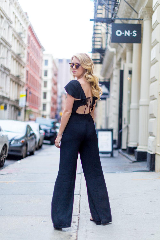 Black Ruffle Jumpsuit Sustainable SoHo NYC-2.jpg