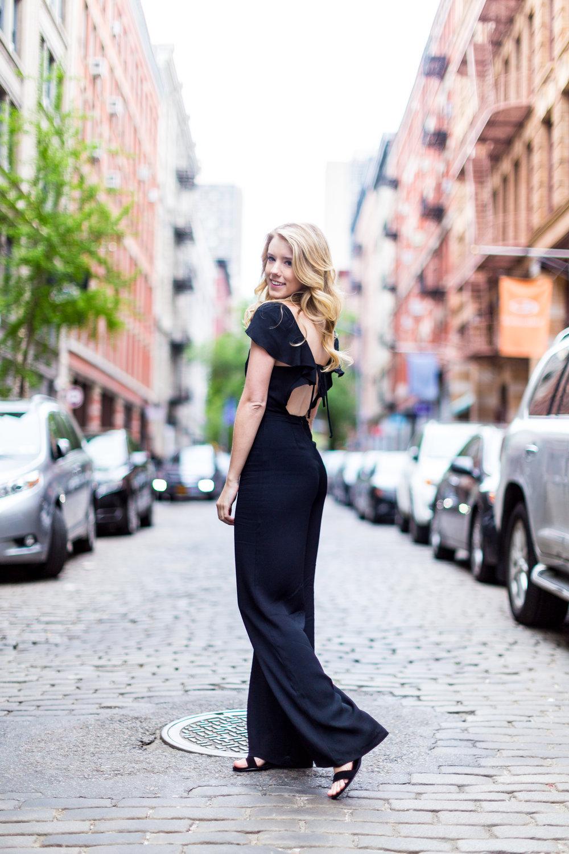 Black Ruffle Jumpsuit Sustainable SoHo NYC-5.jpg