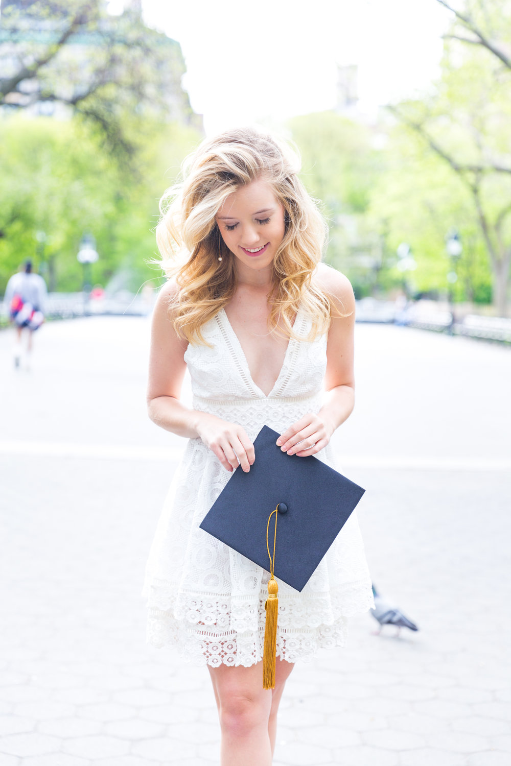 White NYU College Graduation Dress Spring NYC-13.jpg