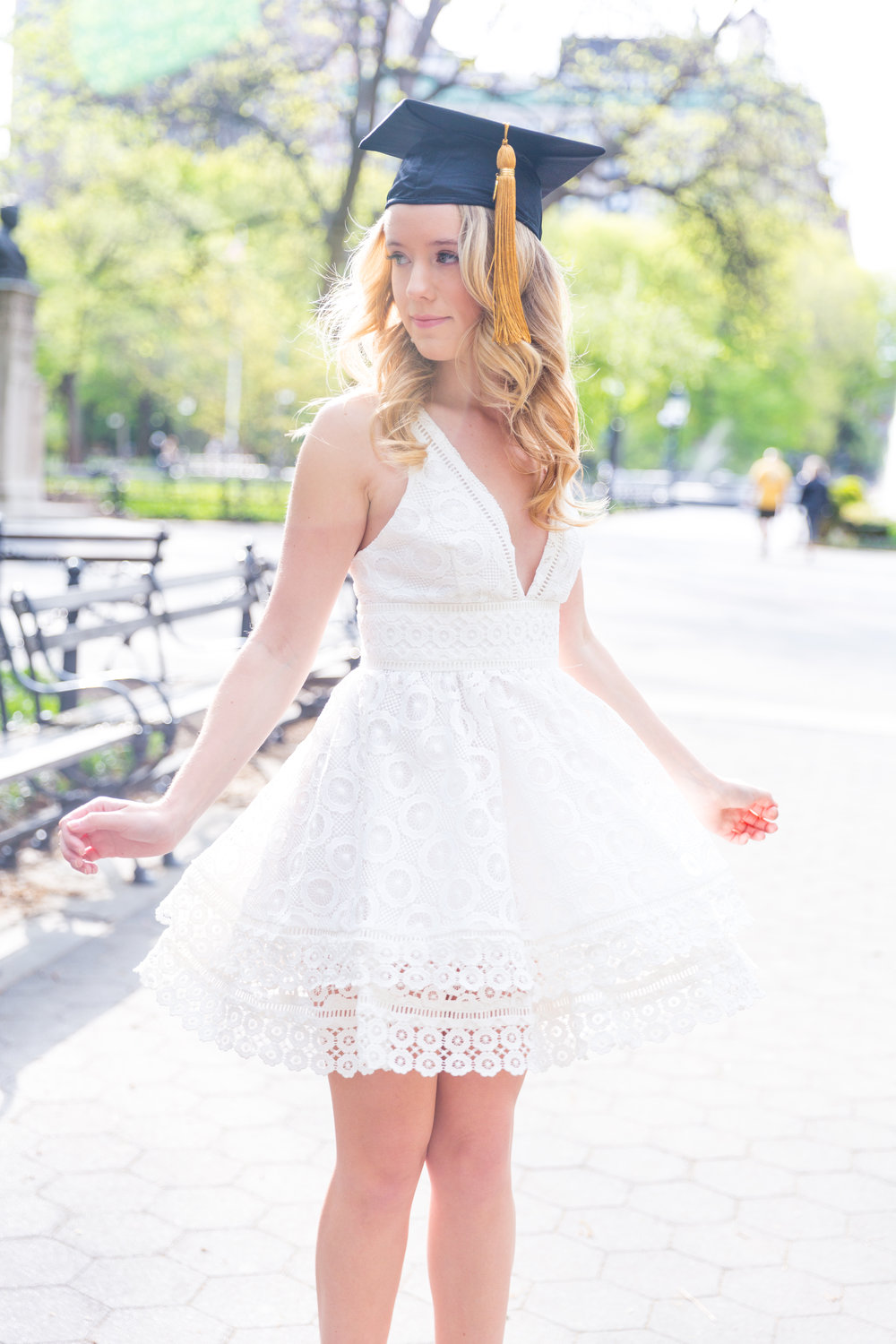 White NYU College Graduation Dress Spring NYC-11.jpg